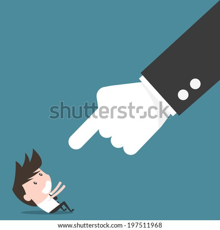 Boss and employee, angry boss concept. - stock vector