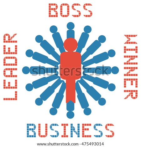boss business management on the white background