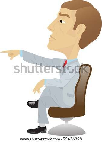 boss on chair isolated on white