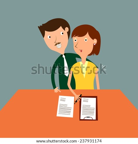 Boss try to sexual assault to the businesswoman while she working,the problem of the assault at work,vector,illustrator. - stock vector