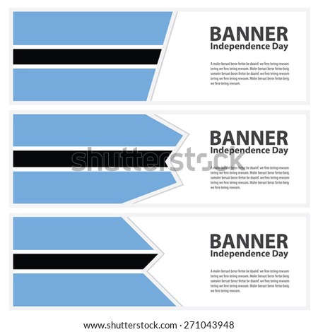 botswana Flag banners collection independence day - stock vector