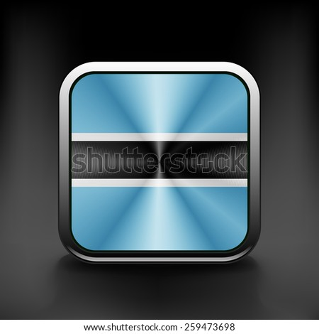 Botswana icon flag national travel icon country symbol button. - stock vector
