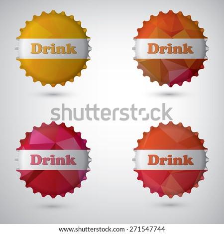 Bottle cap design white background,eps10 - stock vector