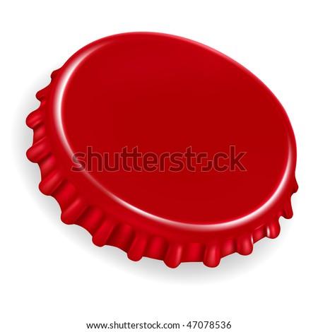 Bottle Cap, mesh - stock vector