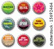 bottle caps 2 - vector set.  To see similar, please VISIT MY GALLERY.