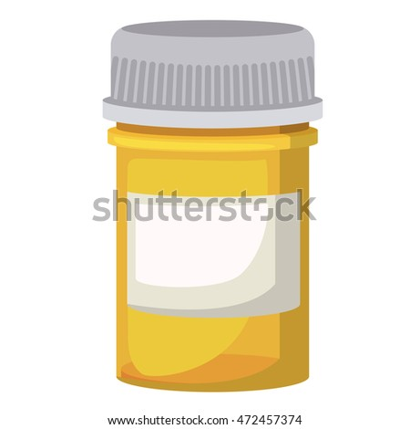bottle container drugs isolated icon vector illustration design