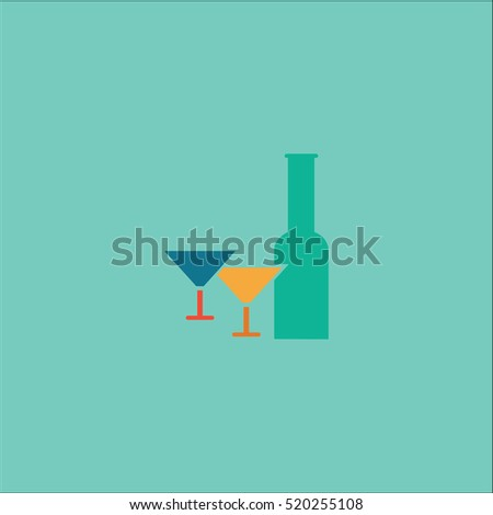 Bottle Glass Icon vector Illustration