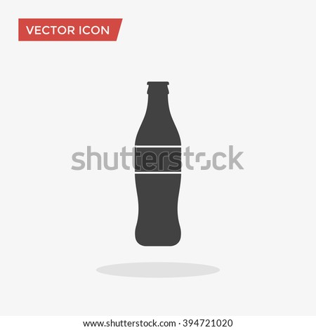 Bottle Icon in trendy flat style isolated on grey background. Coke drink symbol for your web site design, logo, app, UI. Vector illustration, EPS10. - stock vector