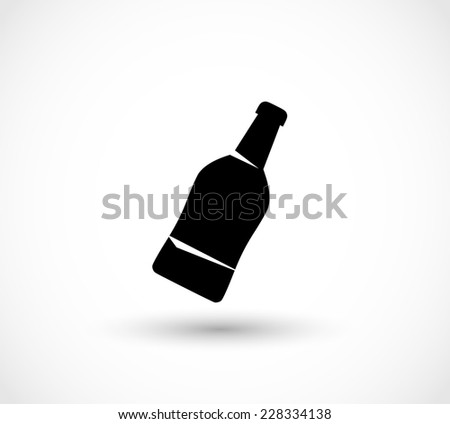 Bottle icon vector - stock vector