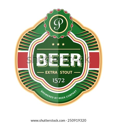 Bottle label template. Vector illustration - stock vector