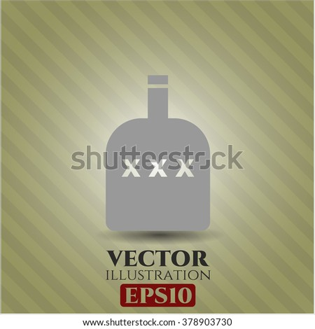 Bottle of alcohol high quality icon - stock vector