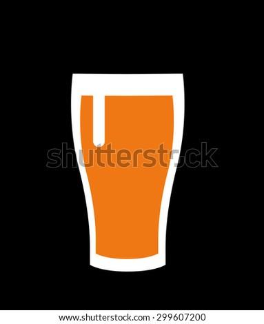 Bottle of beer - stock vector