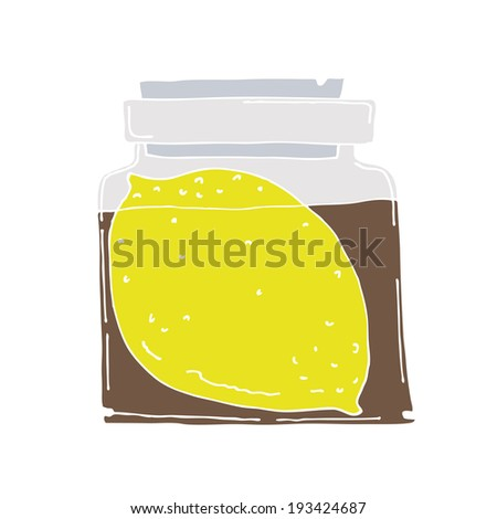 bottle of lemon syrup