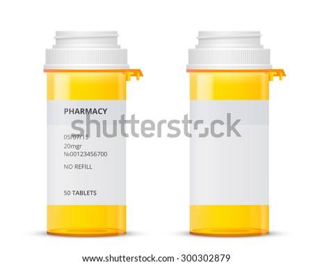 Bottle Prescription Pill Labels Template Vector Stock Vector - Pill bottle label template