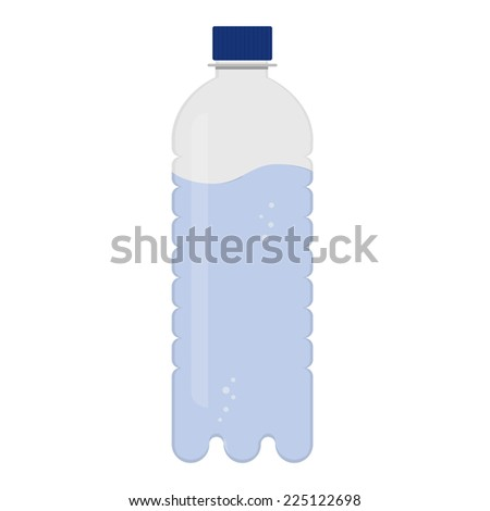 Bottle of water. Bottle of mineral water. Isolated on a white background. - stock vector