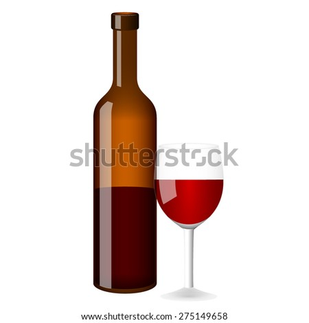 bottle of wine and a glass