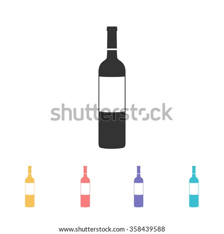 bottle of wine icon. vector illustration - stock vector