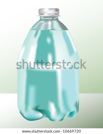 Bottle. Vector.