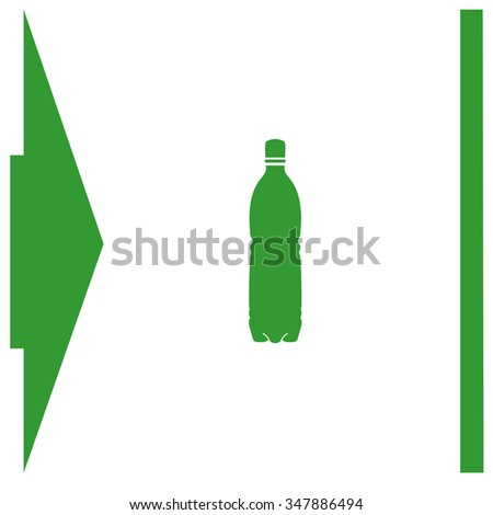 Bottle vector icon.