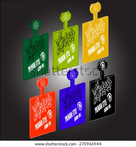 bottle vector set design template, alcohol, whiskey, rum, brandy, vodka - stock vector