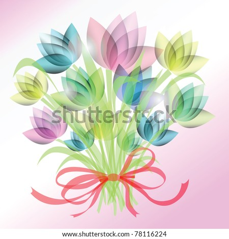 bouquet flower background - stock vector