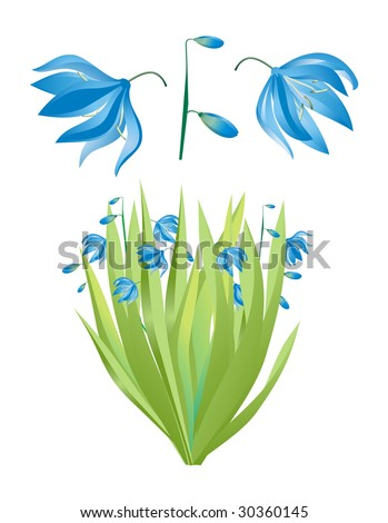 Bouquet of lilies of the valley, vector isolated