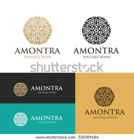 Boutique hotel logo,Hotel Logo,Vector logo template - stock vector
