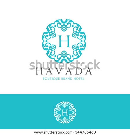 Abstract logo template element identity business stock for Boutique hotel logo