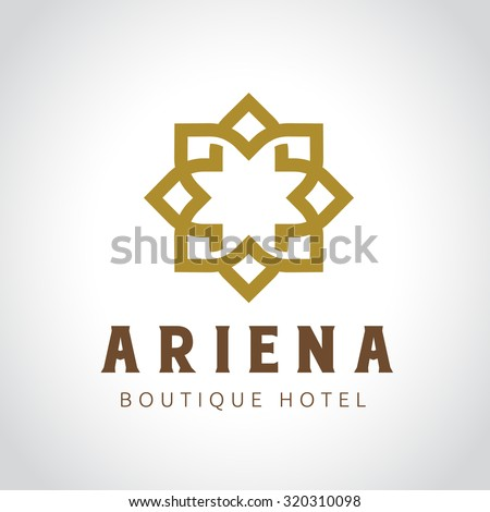 Luxury hotel logo collection victory logo stock vector for Boutique hotel logo