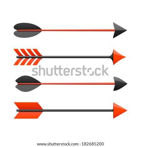 Bow arrows. Vector. - stock vector