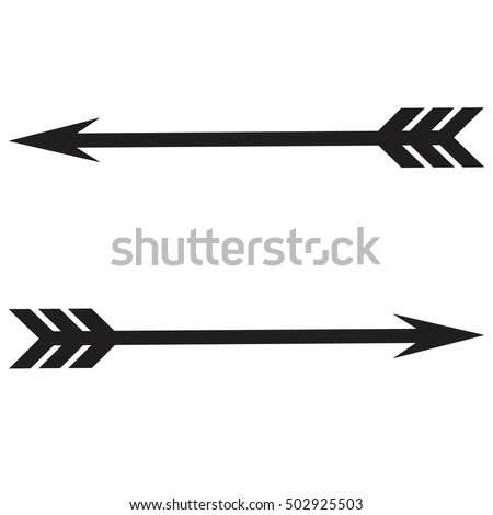 bow arrows vector stock vector 502925503 shutterstock rh shutterstock com vintage arrow vector free vintage arrow vector free download