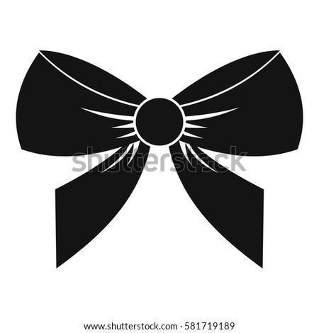 bow icon simple illustration bow vector stock vector hd royalty rh shutterstock com bow vector free bow vector download