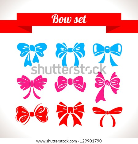 Bow set	 - stock vector