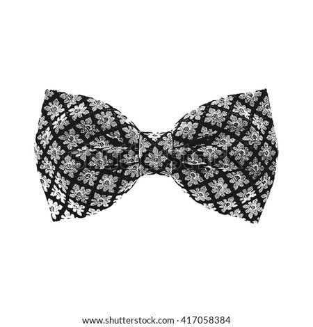Bow tie. Black and white color. Vector - stock vector