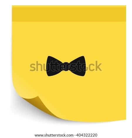Bow tie icon. - stock vector