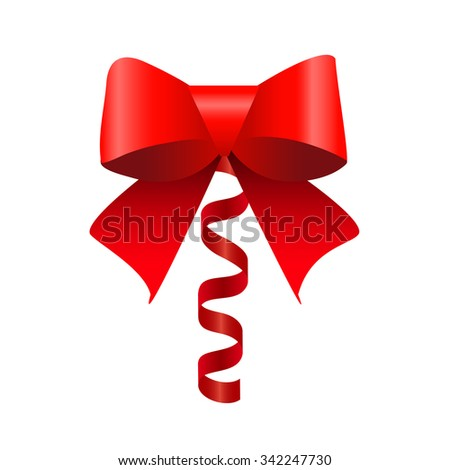 Bow with ribbon - stock vector