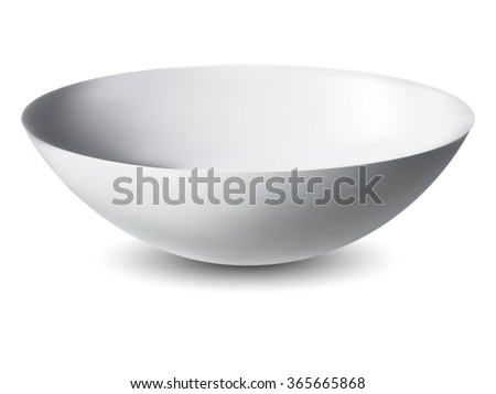 Bowl isolated on white background - stock vector