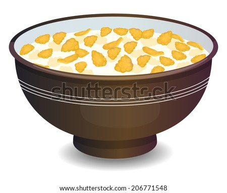 Bowl Of Cornflakes And Milk Cornflakes Stoc...