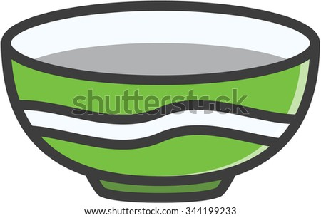 Bowl vector cartoon illustration