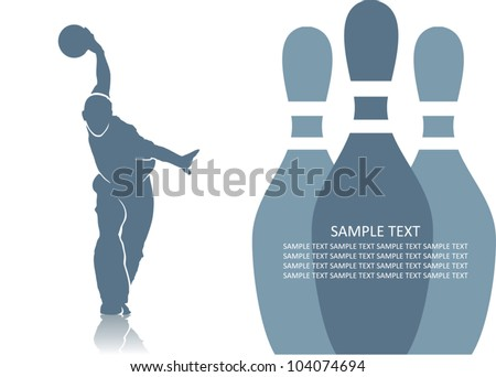 Bowler background - vector illustration - stock vector