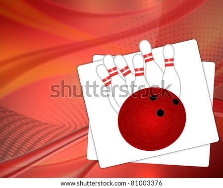Bowling background, vector illustration