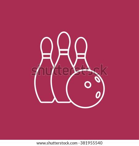 Bowling ball and pins - stock vector