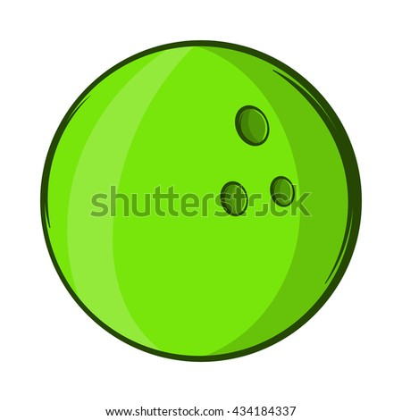 Bowling ball icon, cartoon style