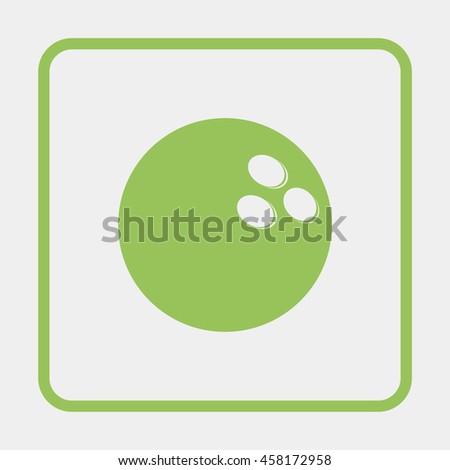 Bowling Ball illustration. - stock vector