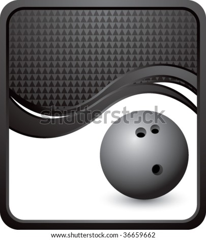 bowling ball on modern style wave background