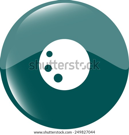 Bowling ball sign icon. Bowl web symbol