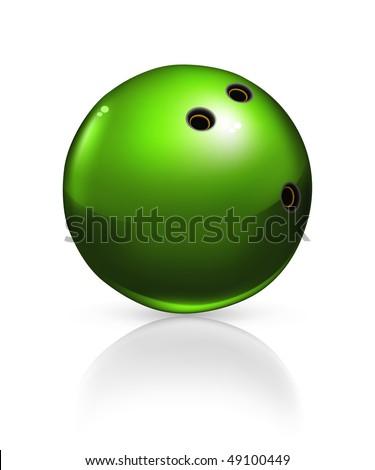 Bowling ball, vector - stock vector