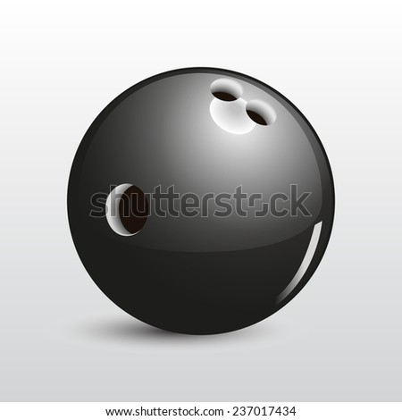 Bowling ball vector on gray background - stock vector