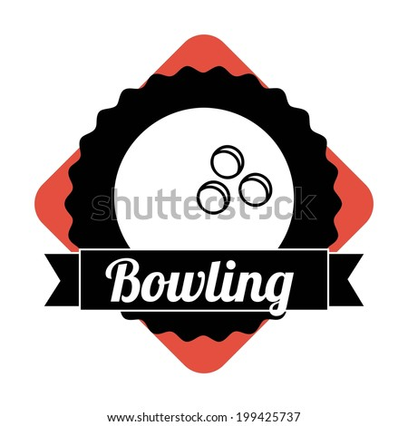 Bowling design over white background, vector illustration