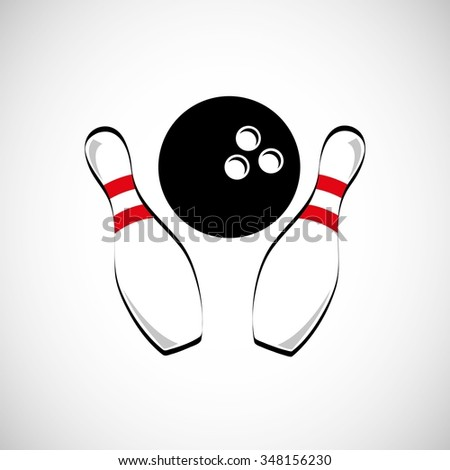bowling game design, vector illustration eps10 graphic